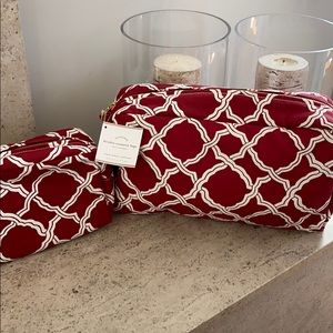 Pottery Barn Cosmetic & Toiletry Bags. Set of 2.